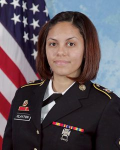 Army combat photographer Spc. Hilda I. Clayton, who was killed in Afghanistan in 2013, is seen in an undated photo. Photo by U.S. Army/Handout via Reuters