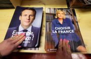 FILE PHOTO: Civil servants prepare electoral documents for the upcoming second round of 2017 French presidential election in Nice