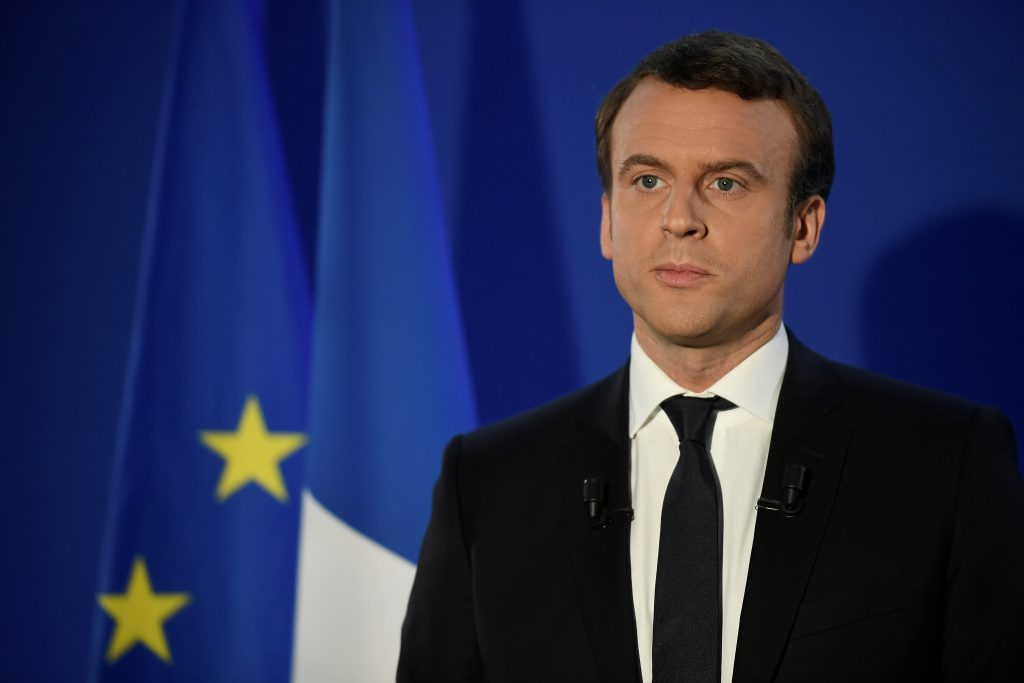 File photo of Emmanuel Macron by Lionel Bonaventure/Pool via Reuters