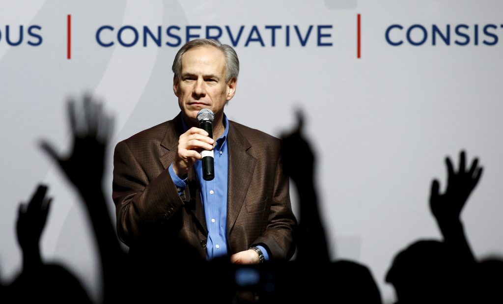 "Texas Gov. Greg Abbott signed a bill into law Sunday that banned ""sanctuary cities"" in the state. Photo taken in 2016. Photo by Mike Stone/Reuters"