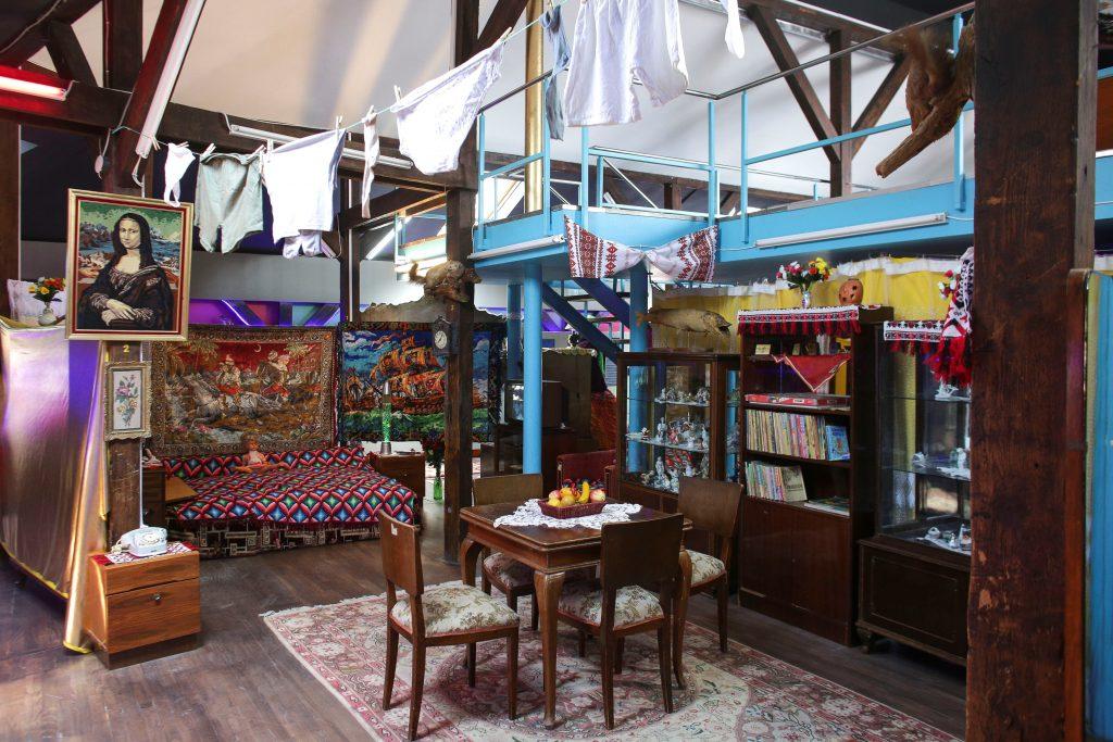 The museum features a reconstructed apartment interior. Photo by Octav Ganea/Inquam Photos via Reuters