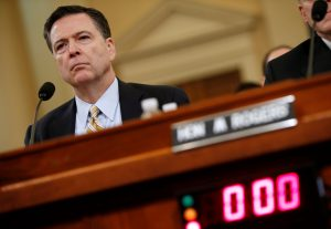 FBI Director James Comey testifies before the House Intelligence Committee hearing into alleged Russian meddling in the 2016 U.S. election, in Washington, D.C. Photo by Joshua Roberts/Reuters
