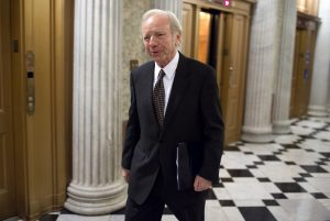 Sen. Joe Lieberman arrives for a vote on Capitol Hill in Washington, DC, in 2012. Photo by Joshua Roberts/Reuters