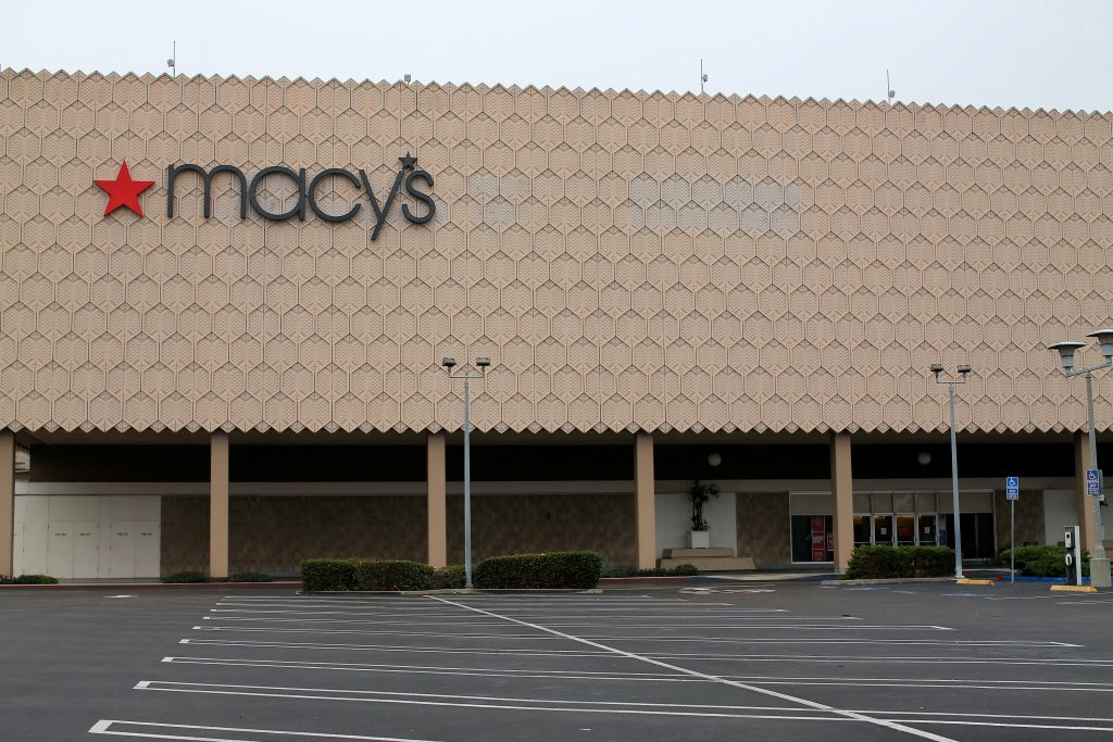 One of the 68 Macy's, Inc. stores the company plans to close is shown at the Mission Valley Center mall in San Diego, California. Photo by Mike Blake/Reuters