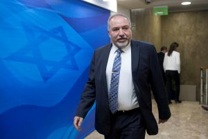 File photo of Israeli Defense Minister Avigdor Lieberman by Abir Sultan/Pool via Reuters