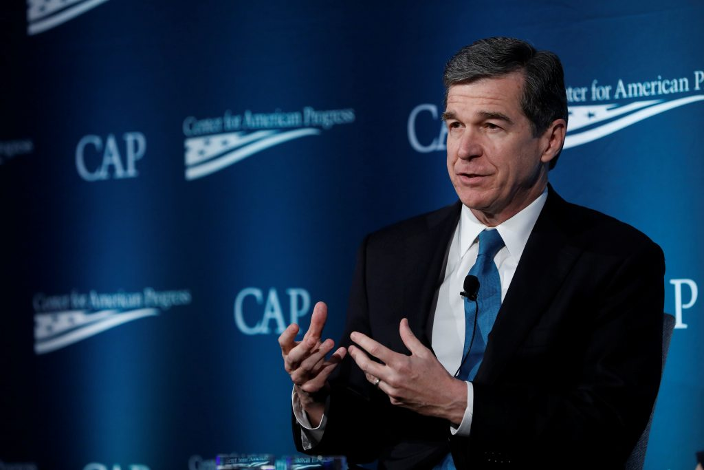 North Carolina Gov. Roy Cooper speaks at the Center for American Progress Ideas Conference in Washington, D.C. Photo by Aaron P. Bernstein/Reuters