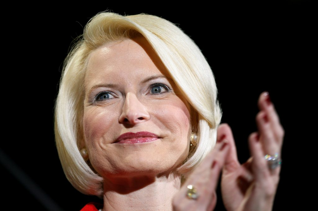 FILE PHOTO - Callista Gingrich applauds husband Republican presidential candidate Newt Gingrich at a campaign rally at Stoney's Rockin' Country dance hall in Las Vegas