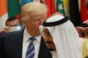 Trump and Saudi Arabia's King Salman attend the Arab Islamic American Summit in Riyadh
