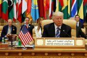 U.S. President Donald Trump takes his seat before his speech to the Arab Islamic American Summit in Riyadh, Saudi Arabia May 21, 2017. REUTERS/Jonathan Ernst - RTX36VBH