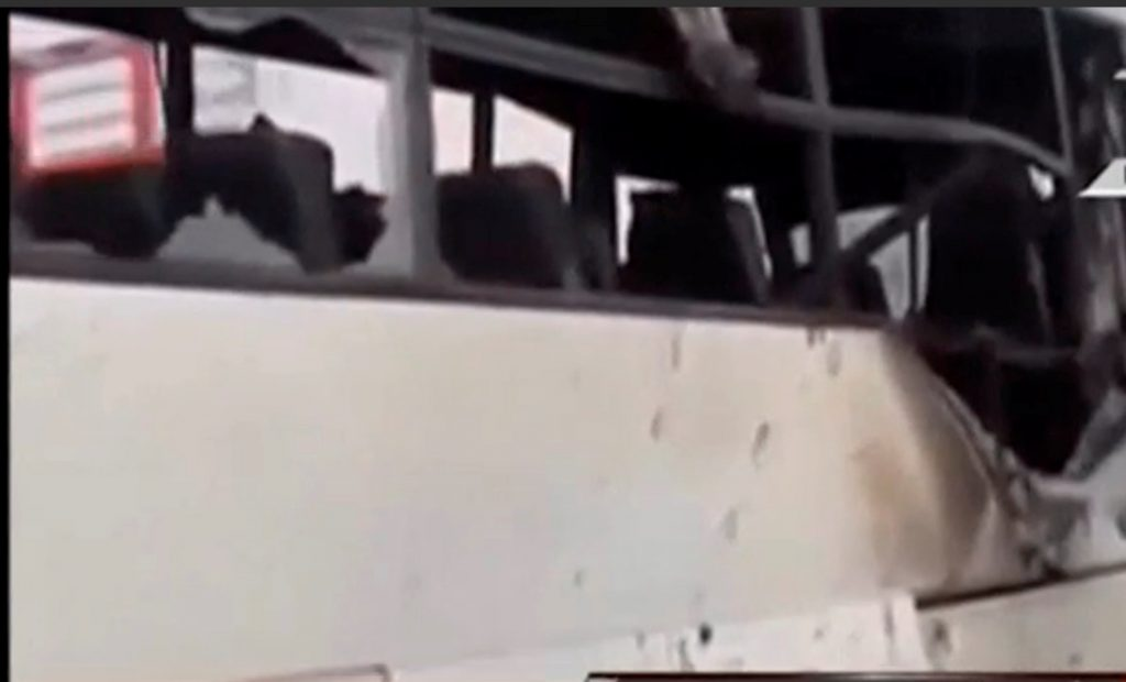 Aftermath of attack on buses and truck carrying Coptic Christians in Minya Province