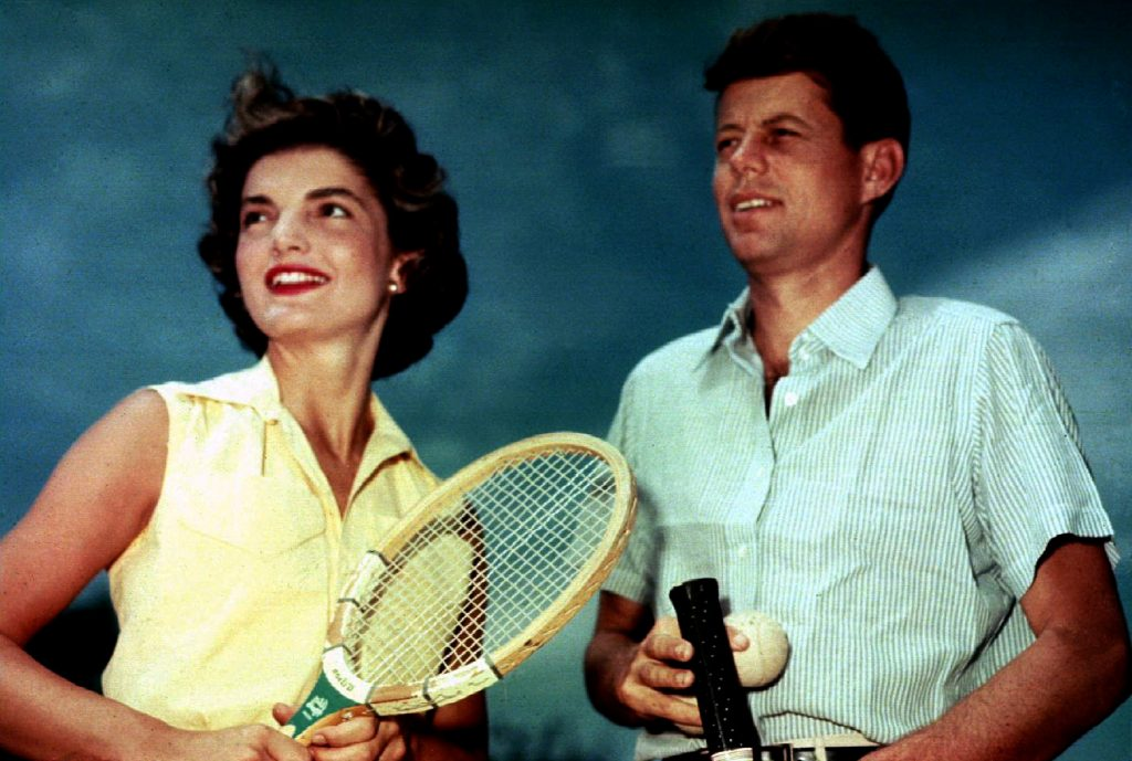 FILE PHOTO: Jacqueline Kennedy Onassis and then Senator John F. Kennedy in Hyannis Port