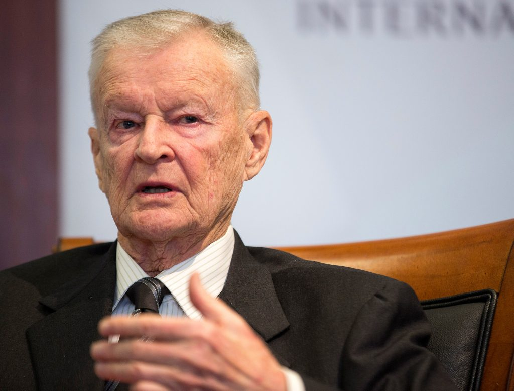Former U.S. National Security Advisor, Zbigniew Brzezinski, speaks at a forum hosted by the Center for Strategic and International Studies in Washington