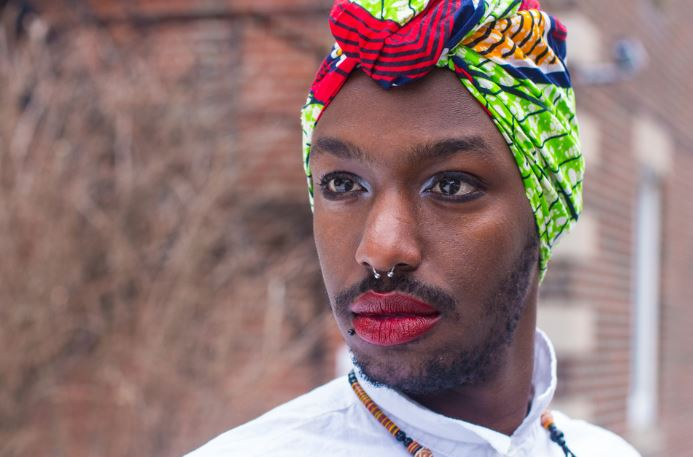 Brian, a queer Rwandan in Canada is photographed here as a part of the Limit(less) project.