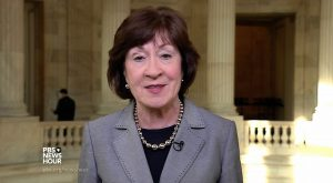 """Sen. Susan Collins, R-Maine, said Tuesday that the FBI's investigation into Russia's role in the 2016 election """"should go forward."""""""