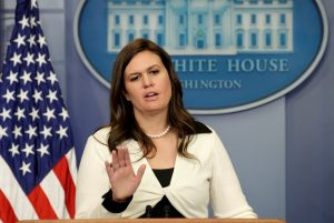 White House spokeswoman Sarah Huckabee Sanders holds a press briefing at the White House in Washington, D.C., U.S., May 11, 2017. REUTERS/Kevin Lamarque - RTS168L7