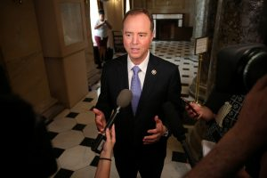 House Intelligence Committee Ranking Member Rep. Adam Schiff speaks to reporters about the appointment of a Special Counsel in the Russia investigations on Capitol Hill in Washington, U.S. May 17, 2017. REUTERS/Zach Gibson - RTX36AZY