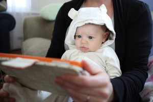 """""""Parents should be wary of educational apps marketed for children 24 months or younger,"""" pediatrician Jenny Radesky said, because """"the science on this says quite clearly that [these] children just don't symbolically understand what they're seeing on a two-dimensional screen."""" Photo by Tim Clayton/Corbis via Getty Images"""