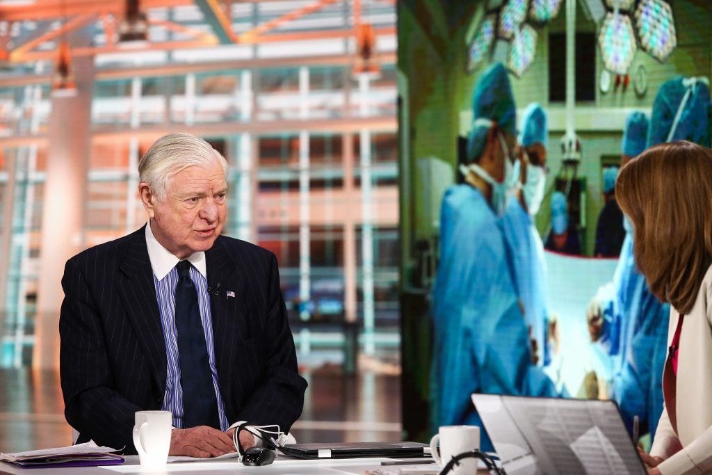 Alan Miller, chief executive officer of Universal Health Services Inc., speaks during a Bloomberg Television interview in New York, U.S., on Thursday, March 10, 2016. Universal Health Services Inc., a chain of hospitals and surgery centers, is prepared to buy more centers as opportunities arise, Miller said. Photographer: Chris Goodney/Bloomberg via Getty Images