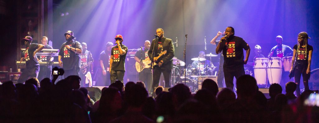 Rare Essence performs at Webster Hall in New York on January 8, 2017. Courtesy of Rare Essence.
