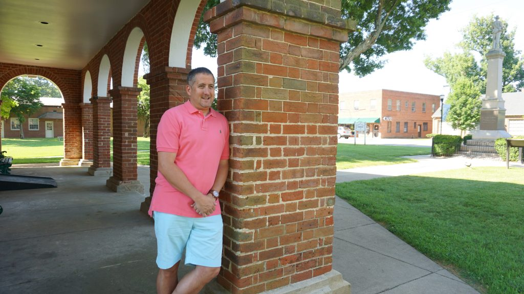 Satterwhite outside the Caroline County Courthouse. Photo by Alison Thoet