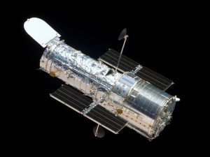 A picture of the Hubble Space Telescope, which was used to make the findings reported on Wednesday in the journal Science. Photo by NASA