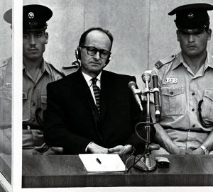 FILER OF ADOLF EICHMANN TRIAL IN JERUSALEM IN 1961.