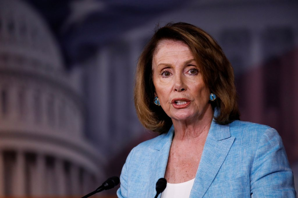 House Minority Leader Nancy Pelosi speaks about the recent attack on the Republican Congressional Baseball team during her weekly press conference on Capitol Hill in Washington, D.C. Photo by Aaron P. Bernstein/Reuters