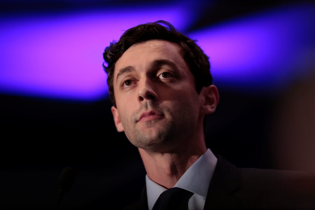Democrat Jon Ossoff addresses his supporters after his defeat in Georgia's 6th Congressional District special election in Atlanta, Georgia. Photo by Chris Aluka Berry/Reuters