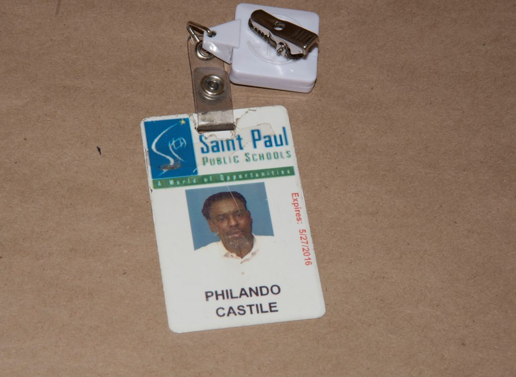 The school identification card of Philando Castile is seen in a police evidence photo released June 20, 2017, taken after he was shot dead by St. Anthony Police Department officer Jeronimo Yanez during a traffic stop last year.   Photo courtesy of Minnesota Bureau of Criminal Apprehension/Handout via Reuters