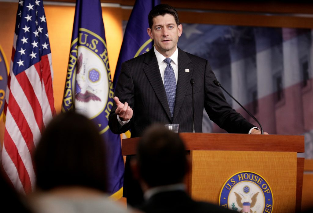 Speaker of the House Paul Ryan (R-WI) speaks after Senate Republicans unveiled their version of legislation that would replace Obamacare in Washington