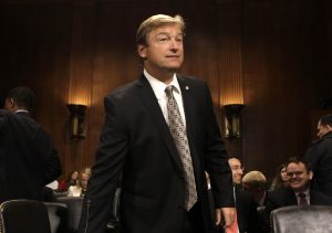 Senator Dean Heller arrives at the Senate Judiciary Committee Privacy, Technology and the Law Subcommittee hearing