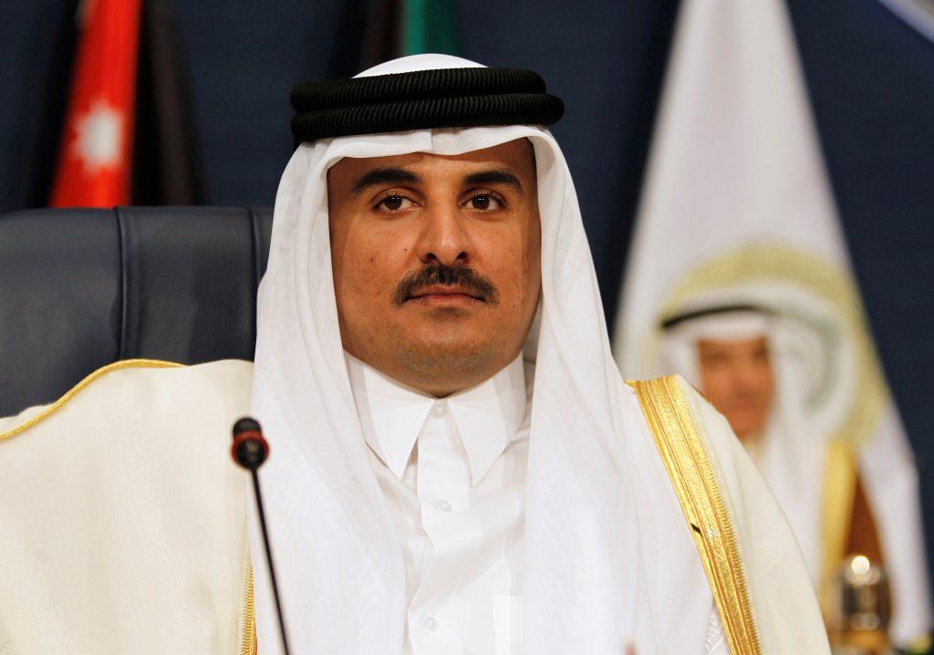 FILE PHOTO: Emir of Qatar Sheikh Tamim bin Hamad al-Thani attends the 25th Arab Summit in Kuwait City