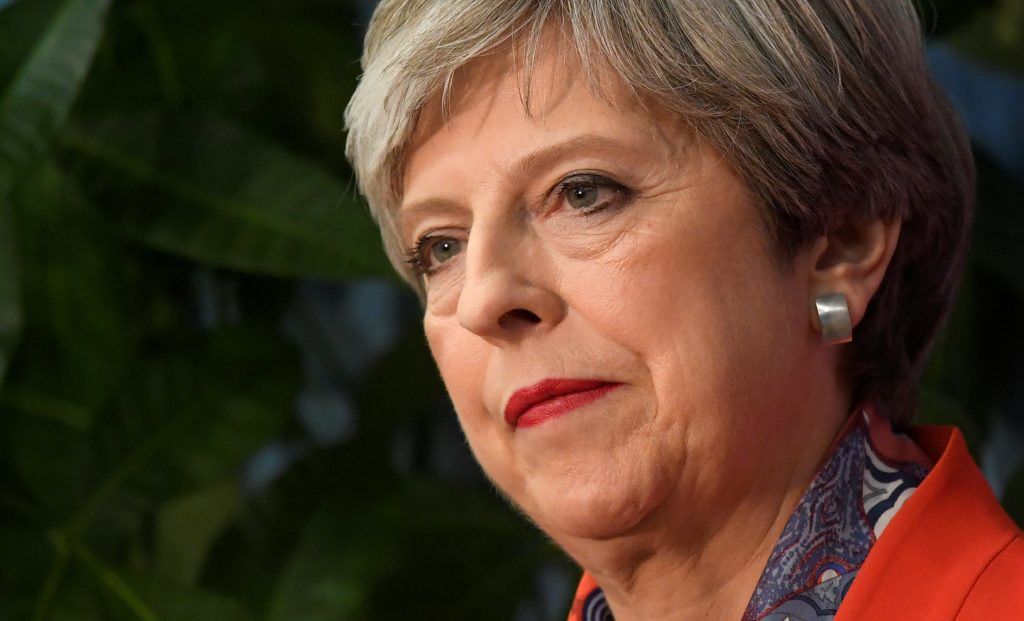 British Prime Minister Theresa May's Conservative Party lost seats in parliament in snap elections on June 8. Photo by Toby Melville/Reuters