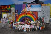The parking lot at the Pulse nightclub in Orlando