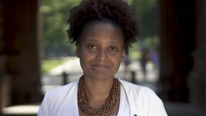 Screen image of Tracy K. Smith by PBS NewsHour