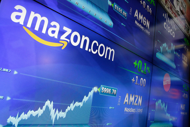 Shares of Amazon have been soaring and recently reached $1,000 for the first time. AP Photo/Richard Drew