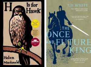 """H Is For Hawk"" Credit: Grove/Atlantic and ""The Once And Future King"" Credit: William Collins Sons and Co."