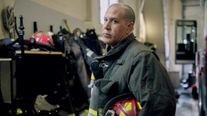 Robertson at his firehouse. He is working to improve access to m