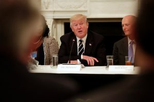 President Donald Trump speaks at the Infrastructure Summit with Governors and Mayors at the White House in Washington, U.S. June 8, 2017. REUTERS/Yuri Gripas - RTX39PW1