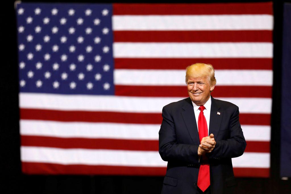 File photo of President Donald Trump by Scott Morgan/Reuters