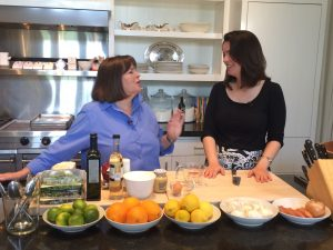 Ina Garten and me at her home workspace in East Hampton, NY. Photo by William Brangham.