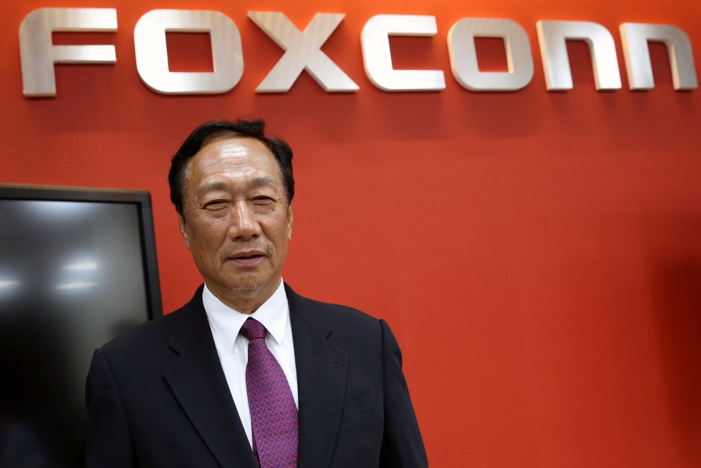 Terry Gou, founder and chairman of Foxconn reacts during an interview with Reuters in New Taipei City, Taiwan June 12, 2017. Photo by Eason Lam/ Reuters