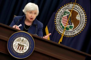 Federal Reserve Chair Janet Yellen speaks during a news conference after a two day Federal Open Market Committee (FOMC) meeting in Washington, U.S., March 15, 2017. REUTERS/Yuri Gripas - RTX316SW