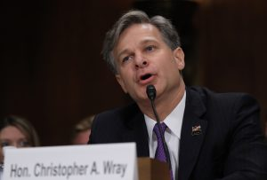 Christopher Wray testifies before a Senate Judiciary Committee confirmation hearing on his nomination to be the next FBI director in Washington, D.C. Photo by Carlos Barria/Reuters