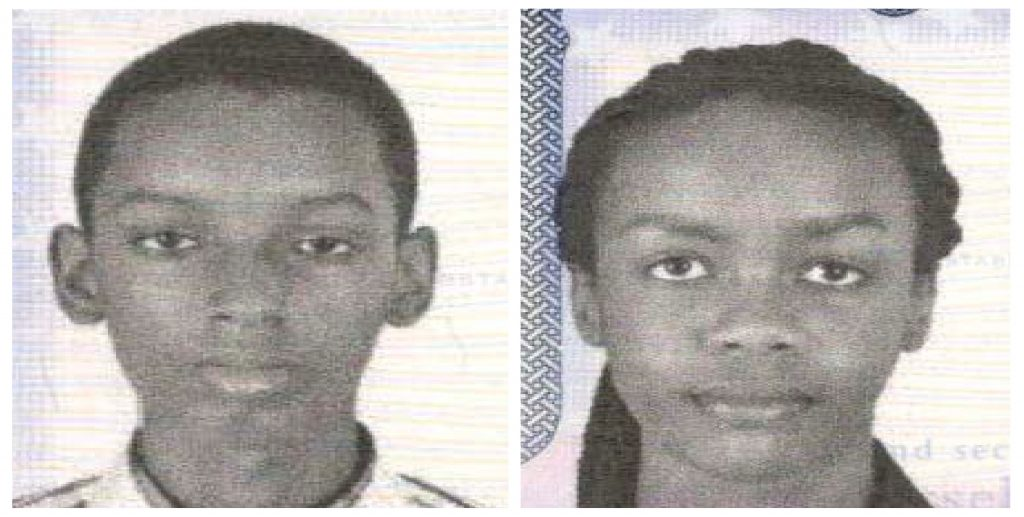 Don Ingabire (L), 16 and Audrey Mwamikazi, 17, members of a teenage robotics team from the African nation of Burundi, who were reported missing after taking part in an international competition and later spotted crossing into Canada, are seen in pictures released by the Metropolitan Police Department in Washington, D.C. Photo by Metropolitan Police Department via Reuters