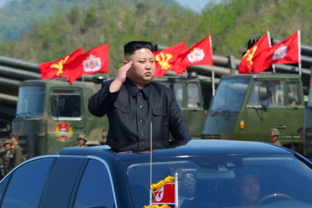 North Korea's leader Kim Jong Un watches a military drill in this handout photo by North Korea's Korean Central News Agency. KCNA/Handout via Reuters