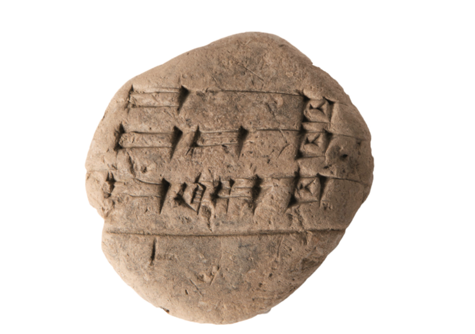 A cuneiform student writing tablet ca. 1800 BC, which will be on display at Museum of the Bible.