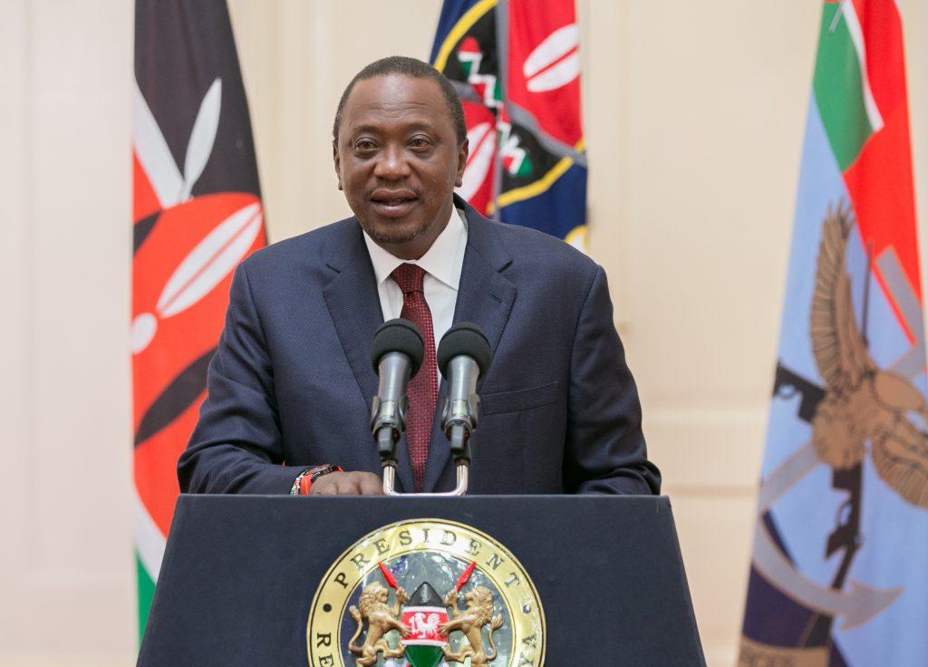 File photo of Kenya's President Uhuru Kenyatta from Presidential Press Service handout