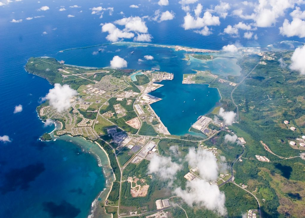 An aerial view of the Naval Base in Guam on Sept. 20, 2006. Photo by U.S. Navy via Reuters