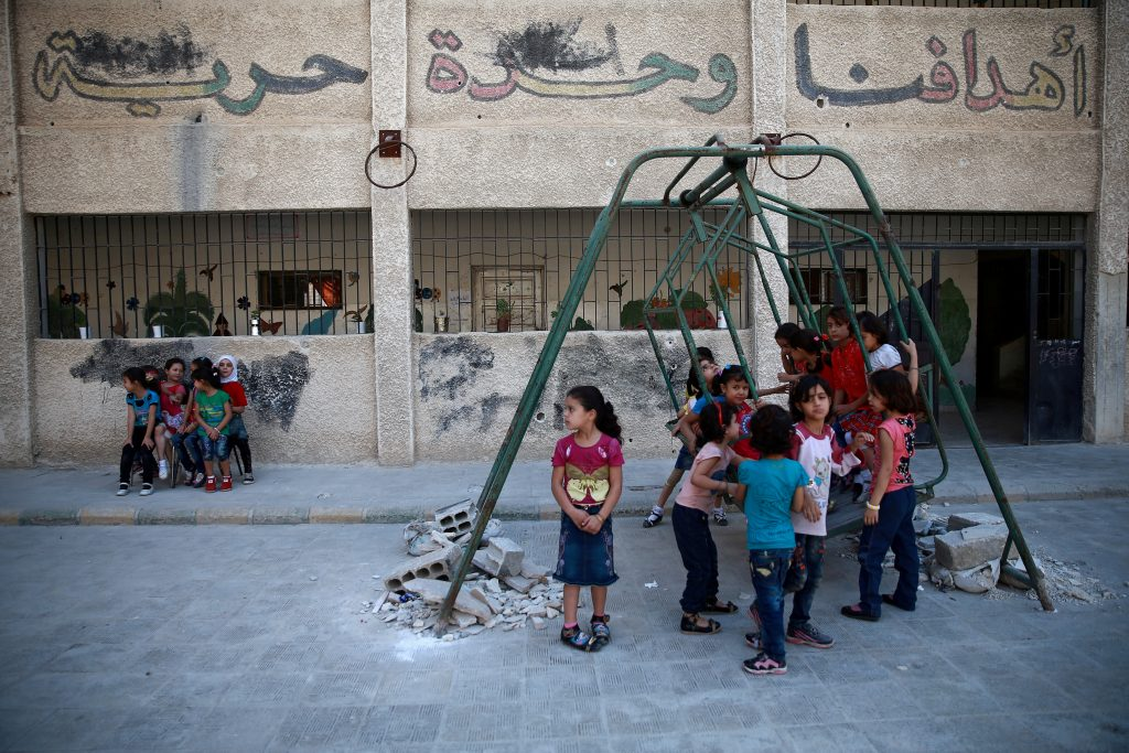 About 1.75 million children in Syria are no longer in school, according to UNICEF. Photo by Bassam Khabieh/Reuters